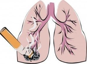 Табакокурение вызывает такие легочные заболевания, как: хронический бронхит, эмфизема легких, рак легких