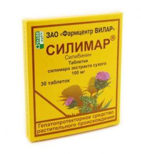 Силимар -гепатопротектор с расторопшей