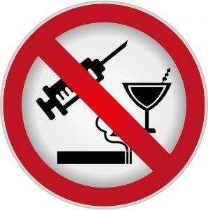Запрет на курение и спиртное